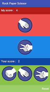 screenshot of Rock Paper Scissor version 1.0