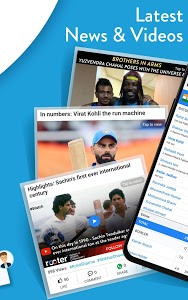 screenshot of Live Cricket Score, Video,News,Commentary - Rooter version 5.2.3.6