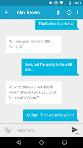 screenshot of mysms SMS Text Messaging Sync version 7.0.4