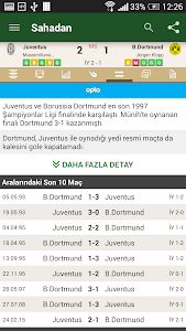 screenshot of Sahadan Live Scores version 4.6.5