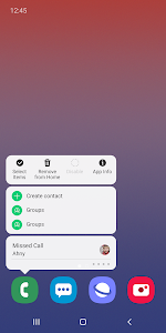 screenshot of Samsung One UI Home version Varies with device