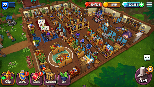 screenshot of Shop Titans: Epic Idle Crafter, Build & Trade RPG version 2.2.1