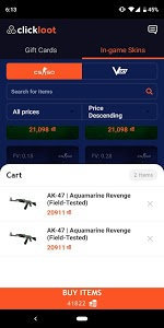 screenshot of ClickLoot (SkinSilo) - Earn skins and gift cards version 2.0.4
