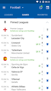 screenshot of SofaScore - Live Scores, Fixtures & Standings version Varies with device