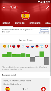 screenshot of SofaScore - Live Scores, Fixtures & Standings version • Score difference graph in Aussie Rules