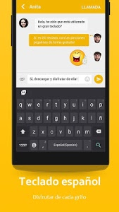 screenshot of Spanish Language - GO Keyboard version 4.0