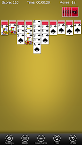 screenshot of Spider Solitaire Pro version 1.2.8