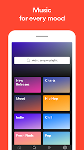 screenshot of Spotify: Listen to new music, podcasts, and songs version Varies with device