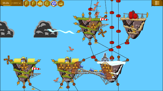 screenshot of Steampunk Idle Spinner: cogwheels and machines version 1.7.6