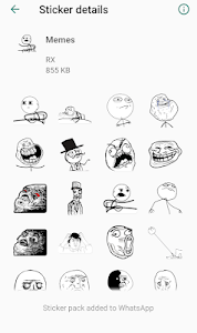 screenshot of Stickers - Whatsapp version 1.0