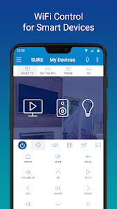 screenshot of SURE - Smart Home and TV Universal Remote version 4.24.129.20200311