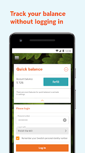 screenshot of Swedbank private version Varies with device