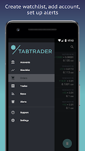 screenshot of TabTrader Buy Bitcoin and Ethereum on exchanges version 3.7.2