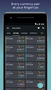 screenshot of TabTrader Buy Bitcoin and Ethereum on exchanges version 3.8.22