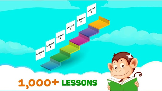 screenshot of Monkey Junior: Learn to read English, Spanish&more version 24.1.9