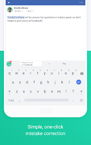 screenshot of Grammarly Keyboard — Type with confidence version 1.4.0.7