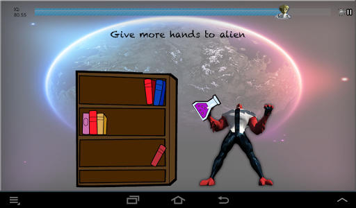 screenshot of The Stupid Test: Puzzled Alien version 1.0