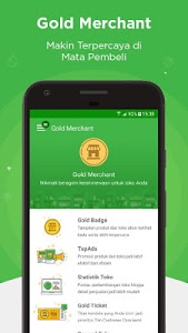 screenshot of Tokopedia Seller App version 1.25.1