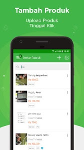 screenshot of Tokopedia Seller App version 1.26.0
