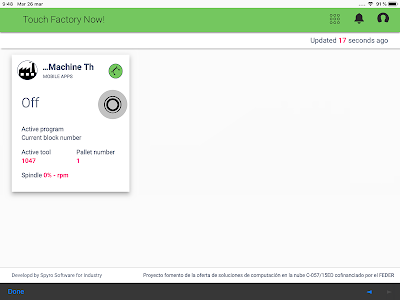 screenshot of Touch Factory version 1.1.0