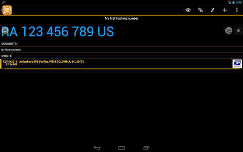 screenshot of TrackChecker Mobile version Varies with device