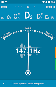 screenshot of Tuner - gStrings Free version Varies with device