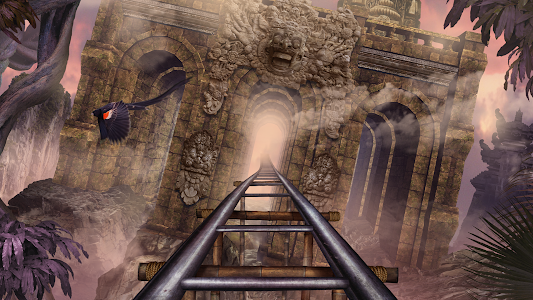 screenshot of VR Roller Coaster Temple Rider version Varies with device