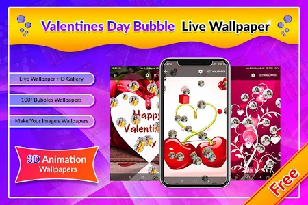 screenshot of Valentines Day Bubble Live Wallpaper version 1.0