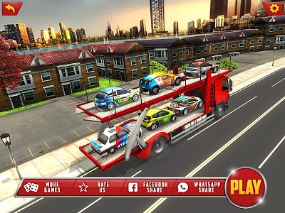 screenshot of Vehicle Transporter Trailer Truck Game version 1.2