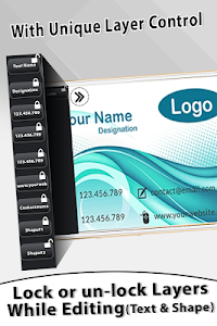 screenshot of Visiting Card Maker version 1.0