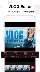 screenshot of Vlog Star for YouTube - free video effect editor version 2.5.5