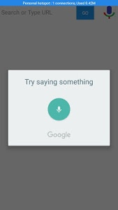 screenshot of Voice Search version 1.21
