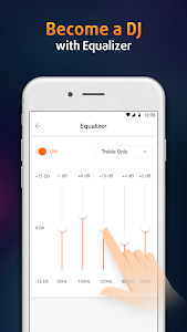 screenshot of Volume Booster and Equalizer, MP3 Music Player version 2.1.1