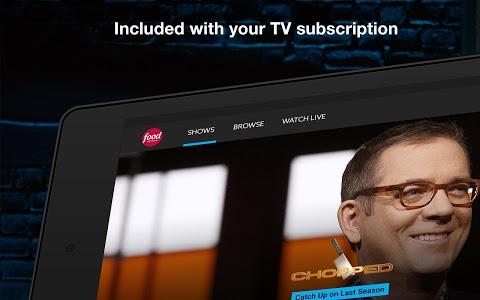 screenshot of Food Network version Varies with device