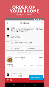 screenshot of Wendy's – Food and Offers version 7.0.7