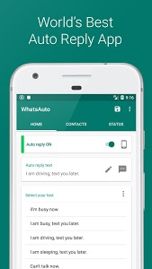 screenshot of WhatsAuto - Auto Reply App version Varies with device