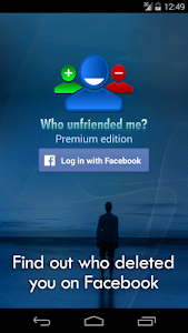 screenshot of Who unfriended me? version 1.7.20