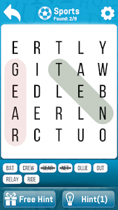 screenshot of Word Search - Strain your brain version 1.2