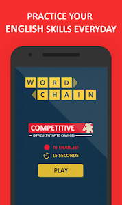 screenshot of Word Chain - English Word Guessing Game version 2.5.5