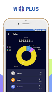 screenshot of Wplus Crypto Wallet version 0.1.1