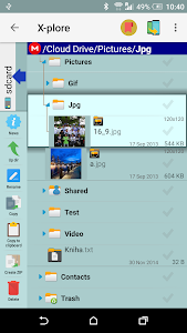 screenshot of X-plore File Manager version 3.92.08