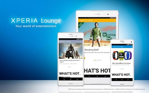 screenshot of Xperia Lounge (entertainment) version 3.2.9