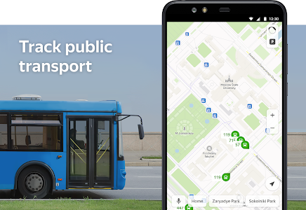 screenshot of Yandex.Maps and Transport version Varies with device