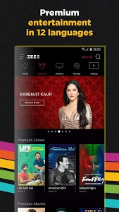 screenshot of ZEE5 - Movies, TV Shows, LIVE TV & Originals version Varies with device