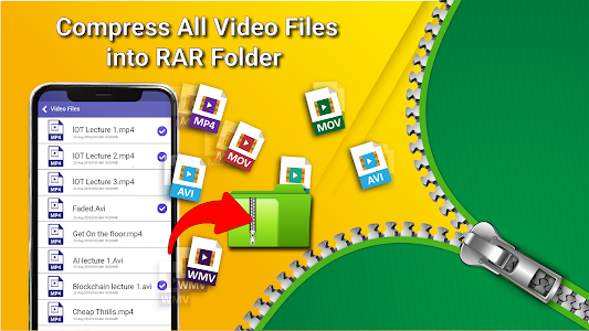 screenshot of Easy Zip File Manager📰-Compress All folders📙 version 1.3