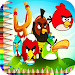 angry birds coloring book
