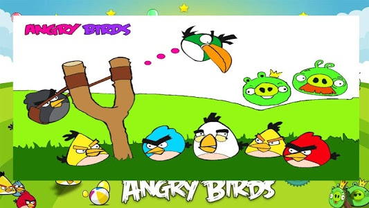 screenshot of angry birds coloring book version 1.1