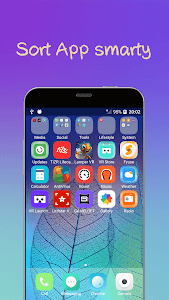 screenshot of iLauncher os12 theme for phone x control center version 3.8.1